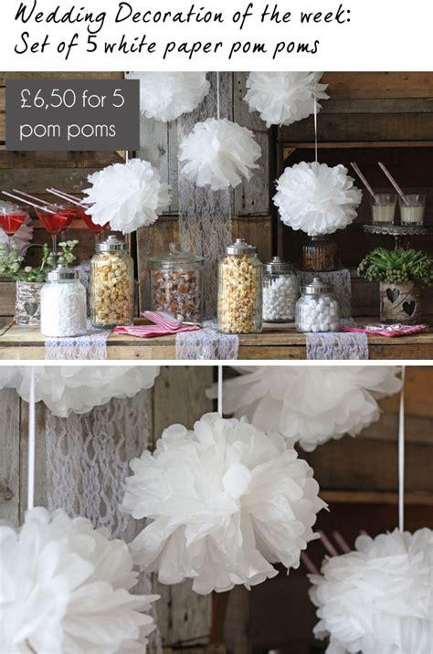 tissue paper pom poms wedding the wedding of my dreamsthe wedding of my dreams