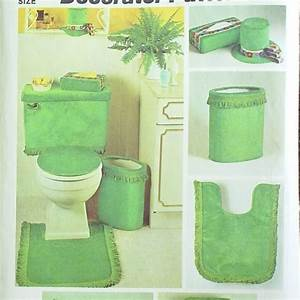 Vintage 70s Bathroom Decor Sewing Pattern, Simplicity 5544
