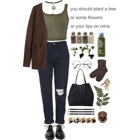 Aesthetic fashion grunge indie outfit polyvore style vintage | winter aesthetic ...
