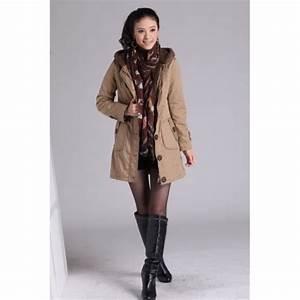 Manteau Mi Long Homme : manteau femme mi long parka capuche beige achat ~ Melissatoandfro.com Idées de Décoration