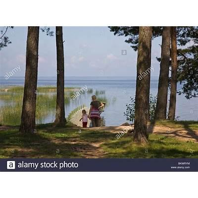 Lake Võrtsjärv near Vehendi Tartu County Estonia Europe