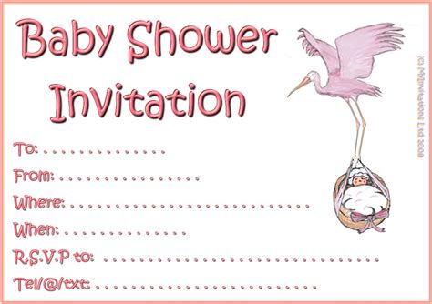 baby shower for large printable girl baby shower invitations theruntime