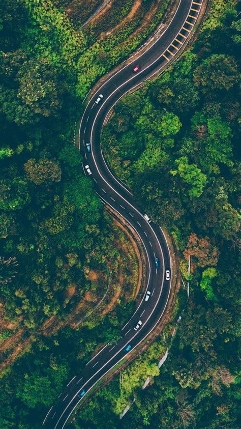 nature road drone shot iphone wallpaper iphone wallpapers