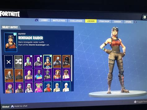 selling account skull trooper renegade raider ghoul