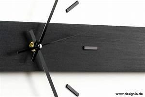 Wanduhr Schwarz Modern : design wanduhr horizon premium buche schwarz ge lt ~ Michelbontemps.com Haus und Dekorationen