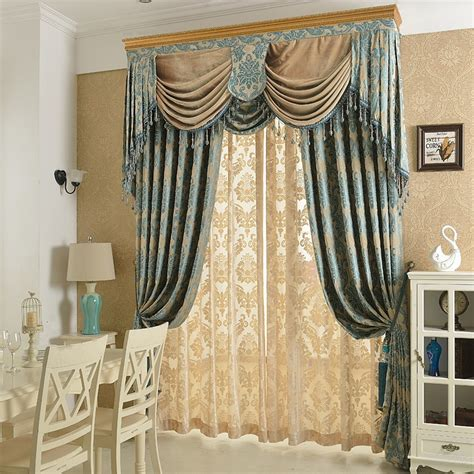 Draped Curtains - new arrival chenille soft material jacquard embroidery