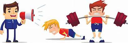 Physical Training Vector Clip Intensive Weightlifting Illustrations