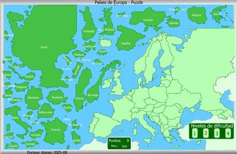 Mapa Interactivo De Europa Países De Europa Puzzle
