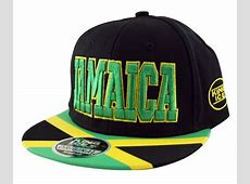 Jamaica Snapback Baseball Cap Hat in Black Green Yellow
