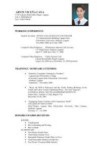 Sample Resume Letter For Job Resume For Job Examples And Samples