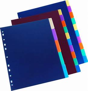 plastic file folder dividers with u clip buy paper file With document dividers tabs