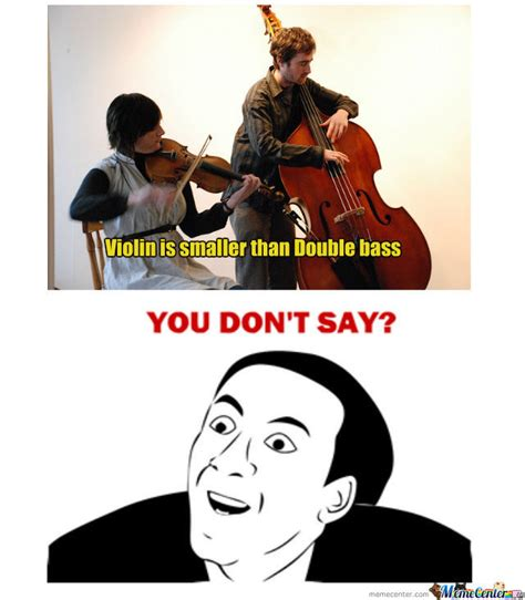Violin Memes - violin is smaller than double bass by hellgurd meme center