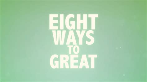 Eight Ways To Great Lifeforce
