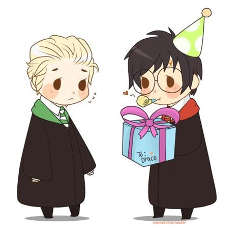 231 best images about drarry pinterest chibi harry draco and drarry fanart