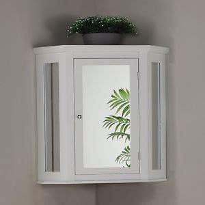 Mirrored Corner Bathroom Cabinet by White Mirrored Corner Wall Mounted Cabinet Bathroom Space