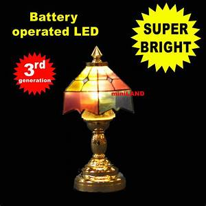 Colored Tiffanysuper Bright Battery Operated Led Lamp