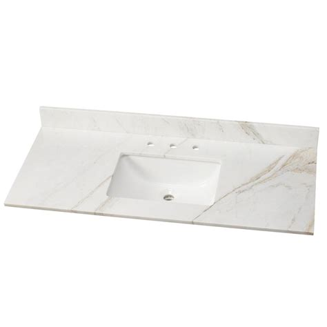 home depot bathroom sink tops home decorators collection 49 in stone effects vanity top