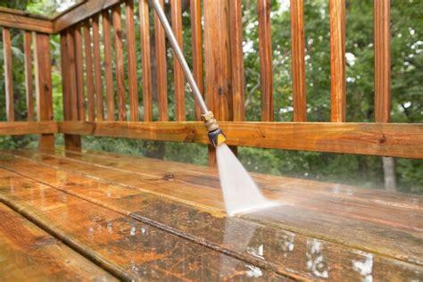 clean  refinish  wood deck