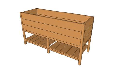 elevated planter box plans raised planter box plans myoutdoorplans free