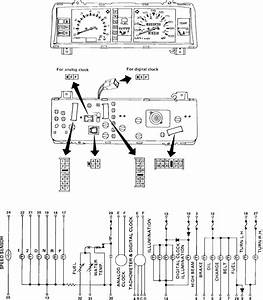 1989 Nissan D21 Instrument Cluster Wire Diagram