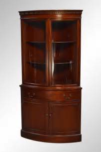 sold mahogany duncan phyfe curved glass corner china cabinet maine antique furniture