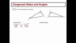 Congruent Sides and Angles - YouTube