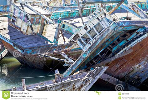 Boat Service In Gujarat by Boat Graveyard India Texture Royalty Free Stock Photo