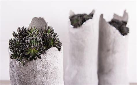 vase aus knetbeton bastelidee rayher