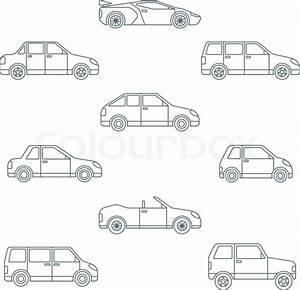 vector dark outline body types cars classification icons With crossover types