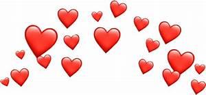 hearts crown heart red sticker filter snapchat whatsapp...  Heart