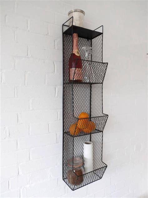 Wire Wall Shelf by Kitchen Metal Wall Wire Rack Storage Shelf Black