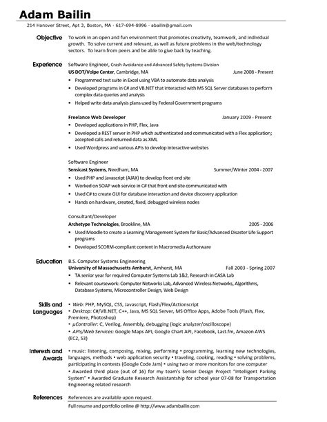 Interest Area In Resume by Best Photos Of Resume Interests Exles Hobbies And