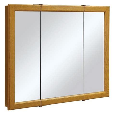 36 inch cabinet doors design house 545285 claremont honey oak tri view medicine