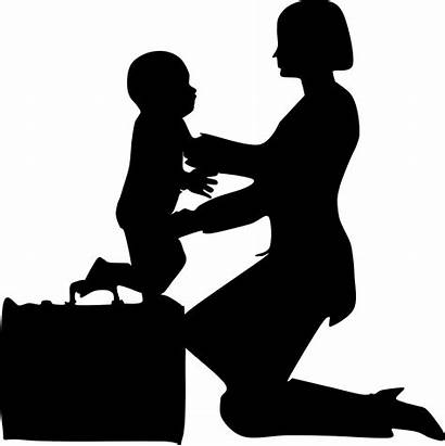 Mother Working Clipart Child Transparent Clipground Clipart1