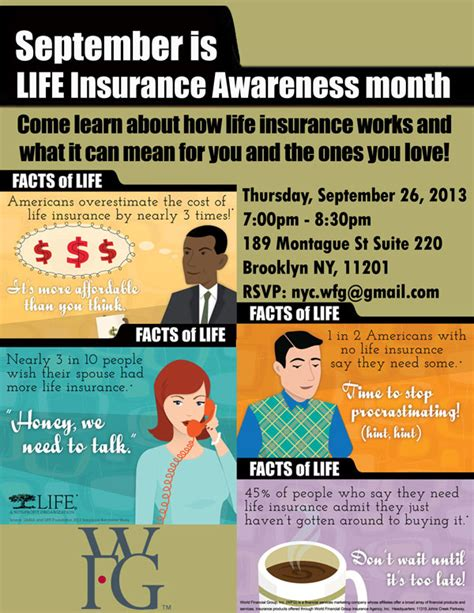 flyer companies life insurance awareness seminar tickets thu sep 26