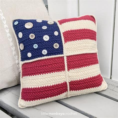crochet throw pillow americana crochet 12 throw pillow pattern americana