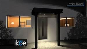 Abri Porte Entrée : auvent porte d 39 entr e v2 ikce design marquise ~ Edinachiropracticcenter.com Idées de Décoration