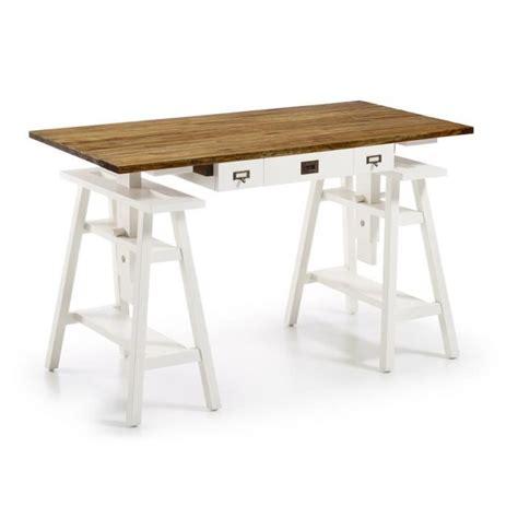 le de bureau bois bureau d 39 architecte bois blanc achat vente bureau