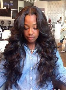 wavy weave hairstyles with side part - Google Search ...