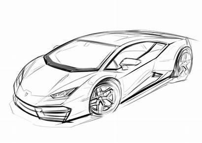 Drawing Sketch Lamborghini Pencil Cars Coloring Drawings
