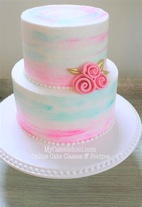 watercolor buttercream  cake video  cake