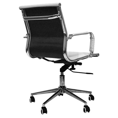 executive eames replica mid back white office chair buy sale