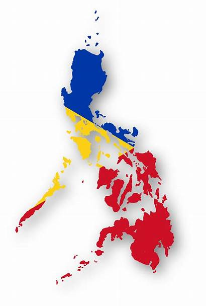 Philippines Flag Map Philippine Country Yellow Clip