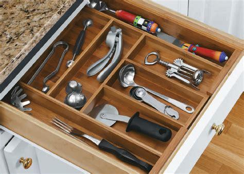 silverware drawer organizer bamboo expandable flatware organizer in kitchen drawer