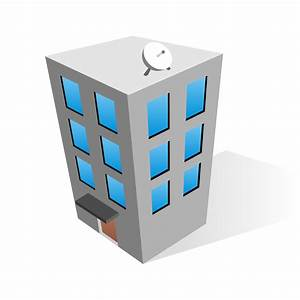 Vector for free use: Office building icon