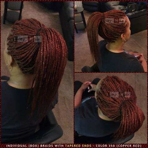 hair color 350 individual box braids with tapered ends color 350