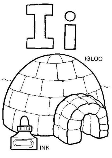 letter i words coloring page best place to color capital letter i for igloo coloring page capital letter i 66077