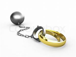 wedding rings chained in shackles stock photo colourbox With prison wedding rings