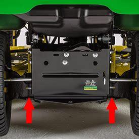 select series lawn tractor    deck john deere