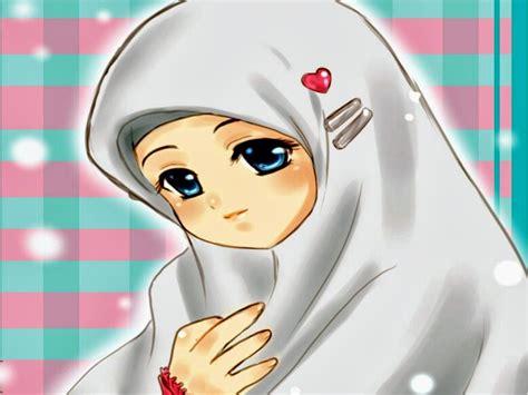 Anime Cantik Islami Wallpaper Kartun Muslimah Cantik
